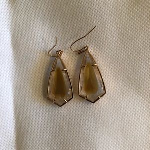 Kendra Scott rose gold and brown mother of pearl